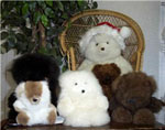 These huggable, adorable bears and Camilid dolls are great items for gift giving